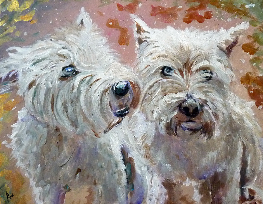 Acrylic paintings of dogs acrylic dog painting commision